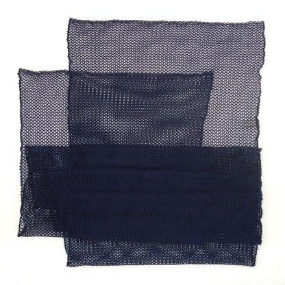 Italienischer Polyester Netz-Schal blau