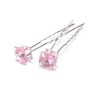 Haarnadeln Quadrat rosa