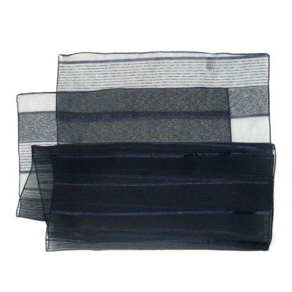 Polyester Schal blau