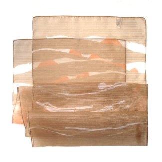 Polyester Schal in beige-braun