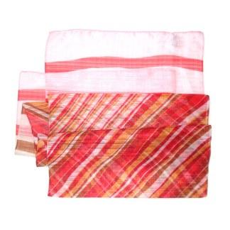 Polyester Schal in rot gestreift
