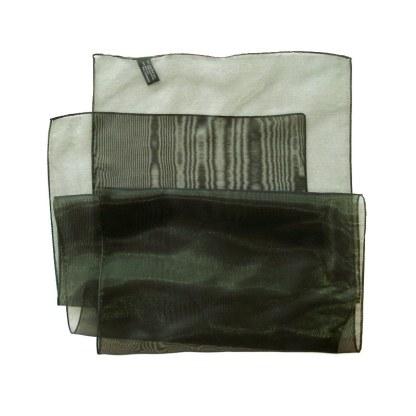 Nylon-Polyester Schal in glänzendem grün