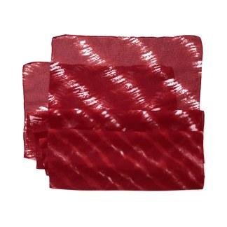 Polyester Schal in rot mit weißen Streifen