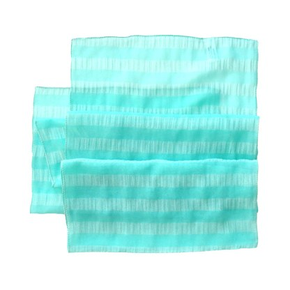 Nylon-Polyester Schal in türkis