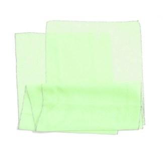 Polyester Schal in grün mit silbernem Rand