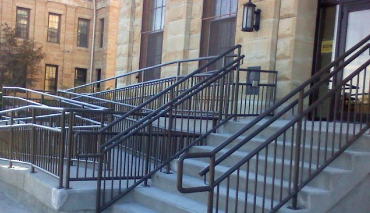 Custom Stairs Mezzanines Schebler Specialty Fab   Tubular Design For Stairs   Finished   Minimalist   Decorative Wood Railing   Contemporary   Home Tower