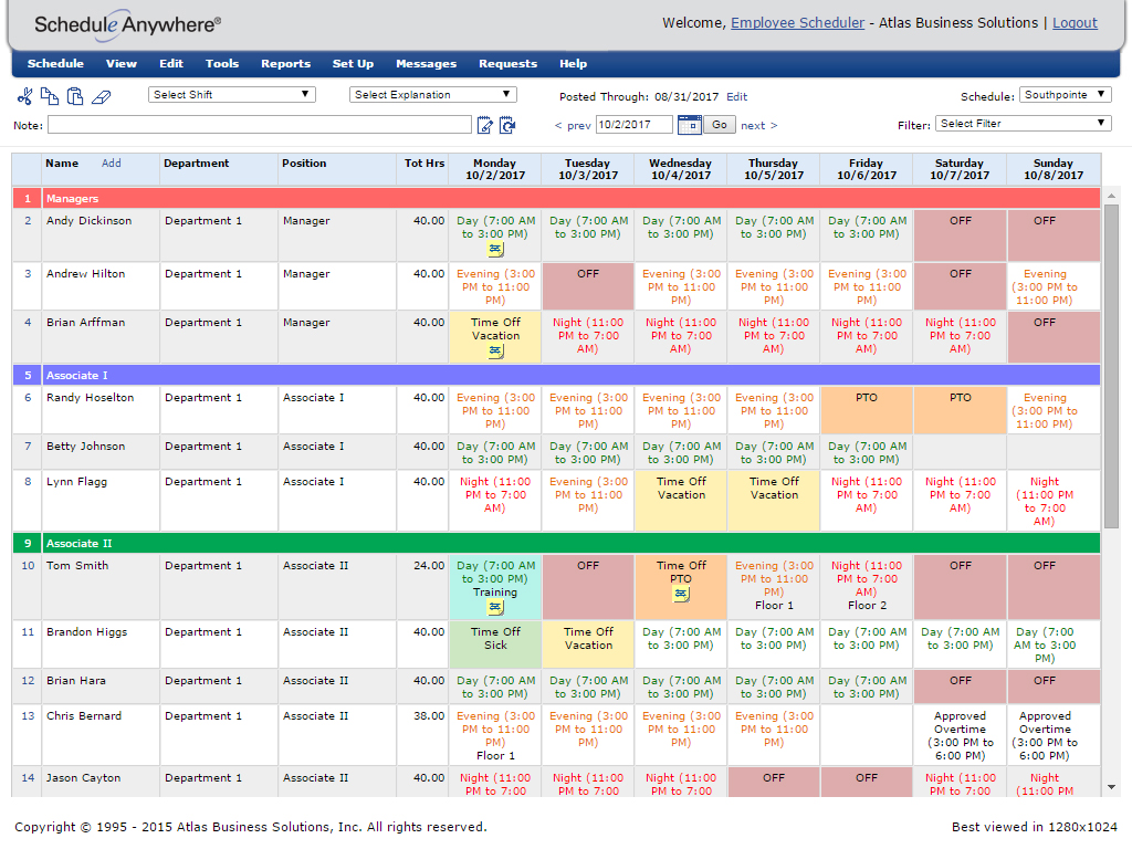 Easy Employee Scheduling Software