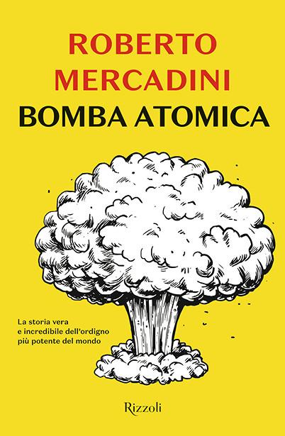 La copertina de La Bomba Atomica, nuova opera di Roberto Mercadini.