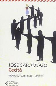 La copertina del libro Cecità di José Saramago.