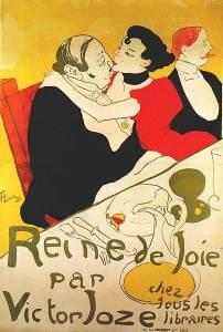 הנרי דה-טולוז-לוטרק, <strong>Reine de Joie</strong>, 1892, כרומוליטוגרף, מוזיאון טולוז-לוטרק, אלבי, צרפת.