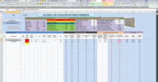 Electrical load calculation and energy consumption