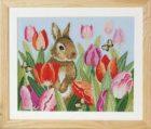 schema punto croce free quadro con tulipani (1)