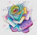 schema punto croce rosa multicolore (1)