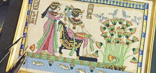 Cerchi uno schema ispirato all'Egitto? Ecco un esempio da ricamare e dedicato delle meravigliose opere d'arte di quell'antica civiltà