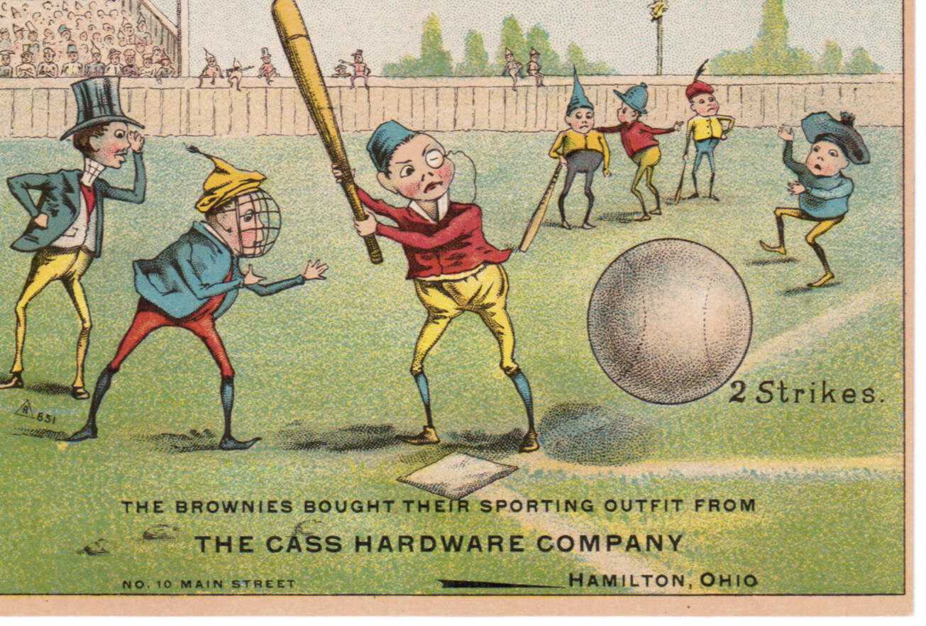 Set H 804-19 baseball advertising trade card