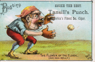 Sample baseball advertising trade card from Set H 804-21