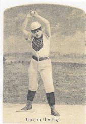 Sample baseball advertising trade card from Set H 804-39