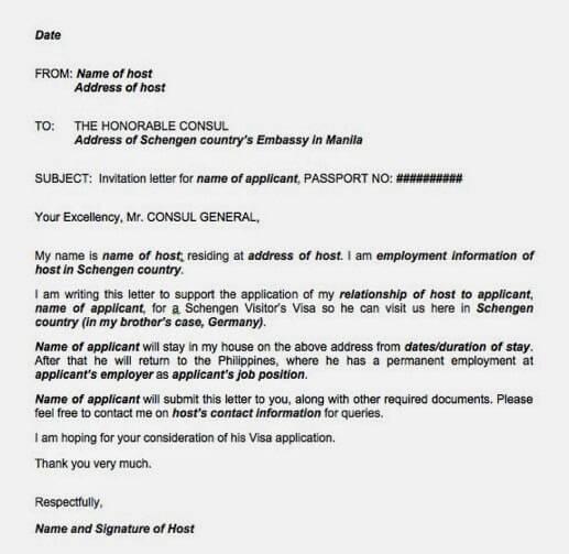 Accommodation For Visa Application
