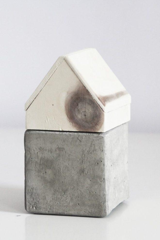 schereleimpapier DIY und Upcycling Berlin Vatertagsgeschenke selber machen Aufbewahrung aus Holz und Beton