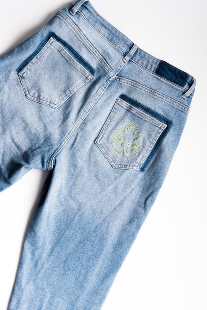 schereleimpapier DIY und Upcycling Blog aus Berlin - kreative Tutorials für Geschenke, Möbel und Deko zum Basteln - DIY Jeans mit Patches gestalten & besticken