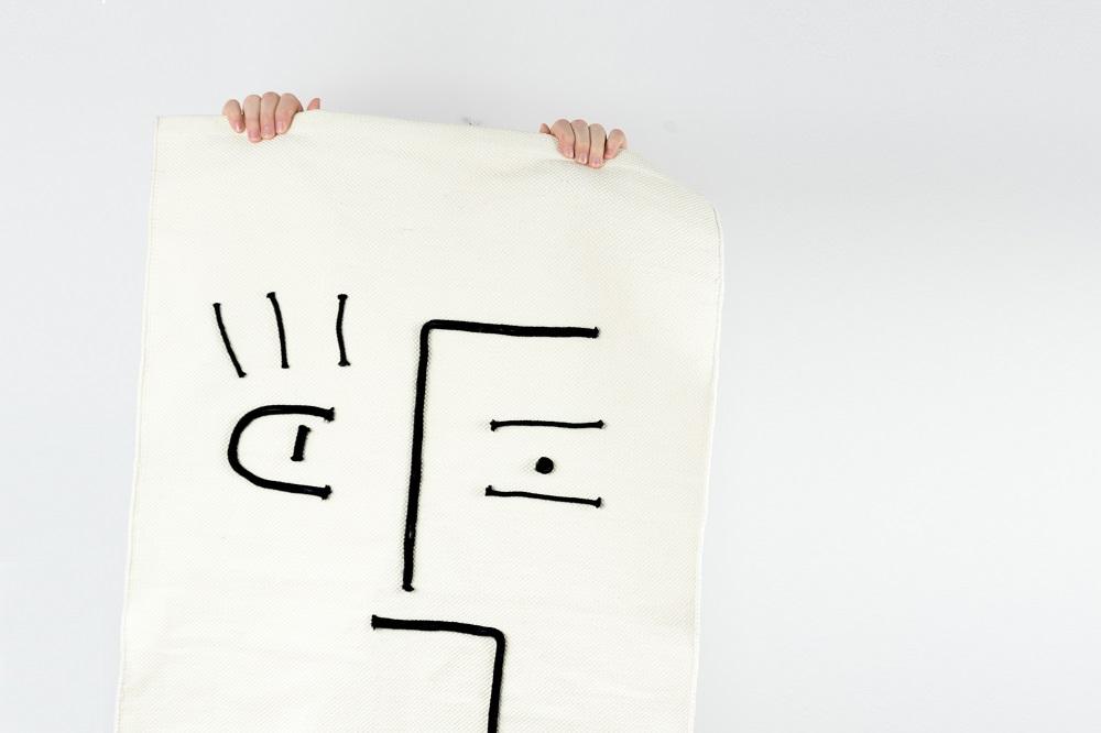 Modern Ethno Teppich selber machen - - schereleimpapier DIY Blog Berlin London