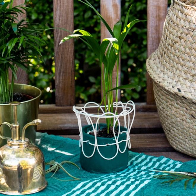 Boho Blumentopf selber machen aus Bast und Ton - -schereleimpapier DIY und Upcycling Blog aus Berlin - kreative Tutorials für DIY Geschenke, DIY Möbel und DIY Deko zum Basteln