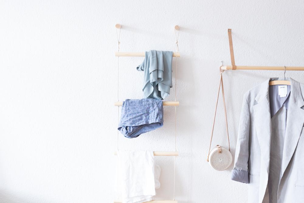 Ordnung schaffen mit der DIY Kleiderleiter -schereleimpapier DIY und Upcycling Blog aus Berlin - kreative Tutorials für DIY Geschenke, DIY Möbel und DIY Deko zum Basteln