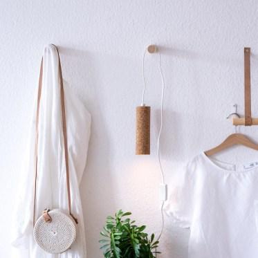 DIY Lampe basteln - Upcycling mit Kork schereleimpapier kreative Tutorials für DIY Geschenke, DIY Möbel und DIY Deko zum Basteln