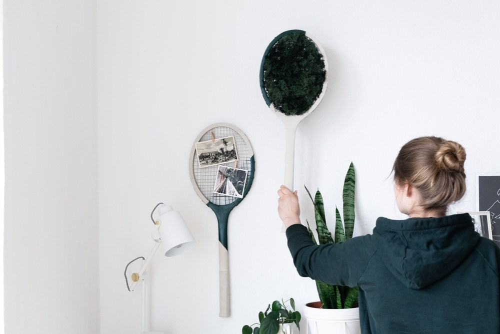 Deko DIY mit Vintage Tennisschlägern schereleimpapier kreative Tutorials für DIY Geschenke, DIY Möbel und DIY Deko zum Basteln