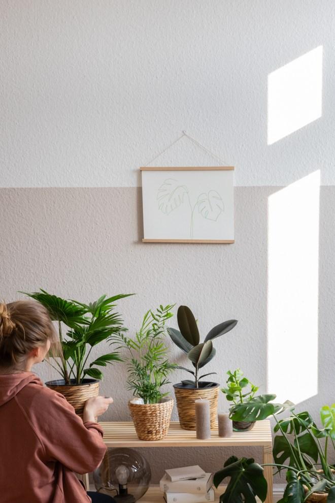 DIY Deko Idee im Urban Jungle Design schereleimpapier kreative Tutorials für DIY Geschenke, DIY Möbel und DIY Deko zum Basteln