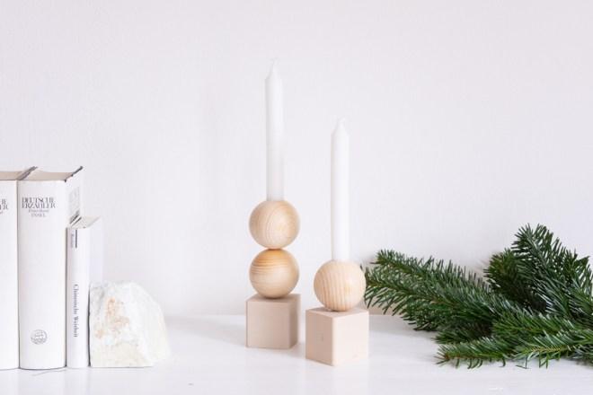 DIY Holz Kerzenständer selber machen schereleimpapier kreative Tutorials für DIY Geschenke, DIY Möbel und DIY Deko zum Basteln