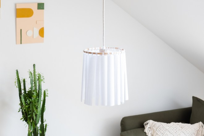 Lampe selber machen schereleimpapier DIY Blog