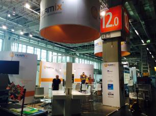 Messestand it-sa teamix