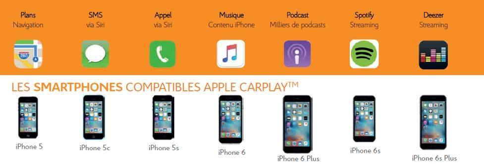 Iphone compatible Apple Carplay Mirror Screen