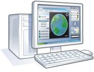 PC mit Google Earth