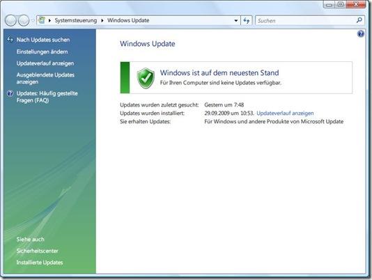 Windows Update Agent 3.0 auf Windows Vista