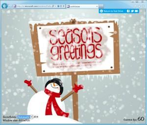 Let it snow: Internet Explorer Test Drive