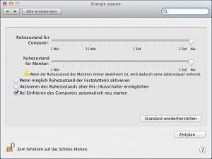 Mac OS X Lion: Beim Einfrieren neu starten