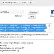 YouTube: (Alten) Einbettecode kopieren