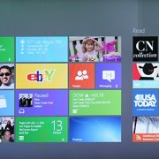 Windows 8, CES 2012 Demonstration, Startbildschirm