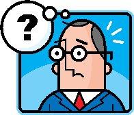 Mann mit Fragezeichen