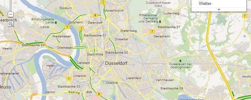 Google Maps: Anzeige von Verkehrsinfos auf der Karte