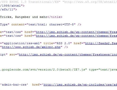 HTML-Quelltext von schieb.de