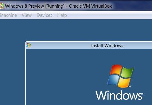 VirtualBox: Windows 8-Setup