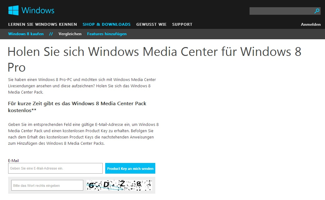 Windows Media Center-Pack für Windows 8 kostenlos ...