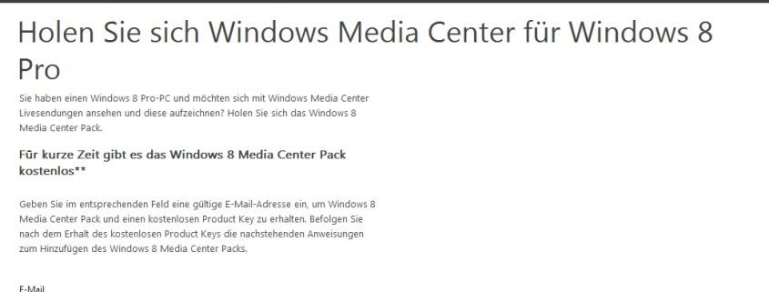 Windows Media Center-Pack für Windows 8 kostenlos downloaden - schieb de
