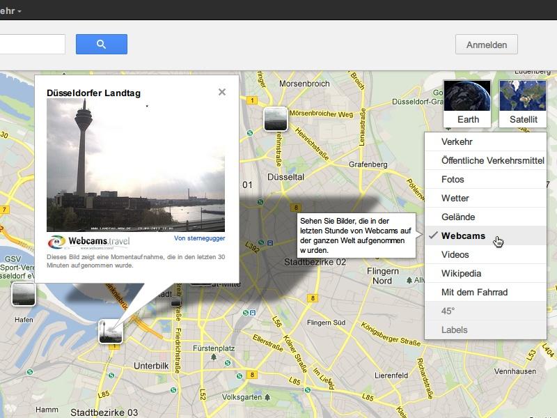 Web-Cams von Reise-Zielen finden mit Google Maps – schieb.de on