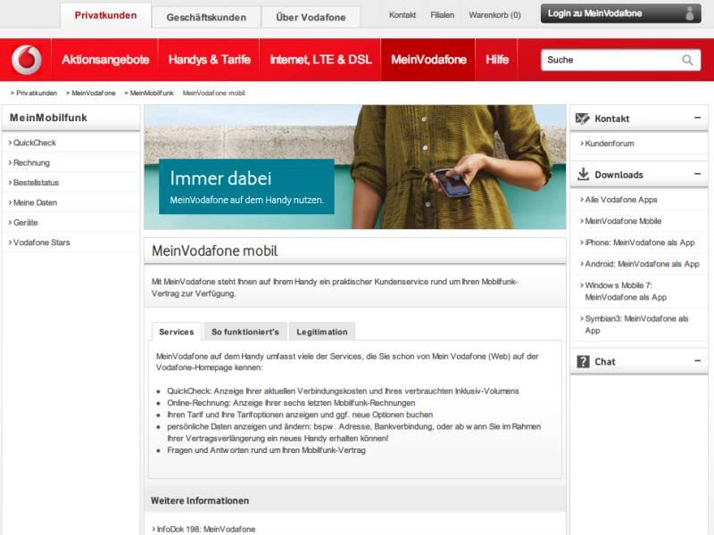 Mein Vodafone Rechnungen Und Vertragsdetails Online Einsehen