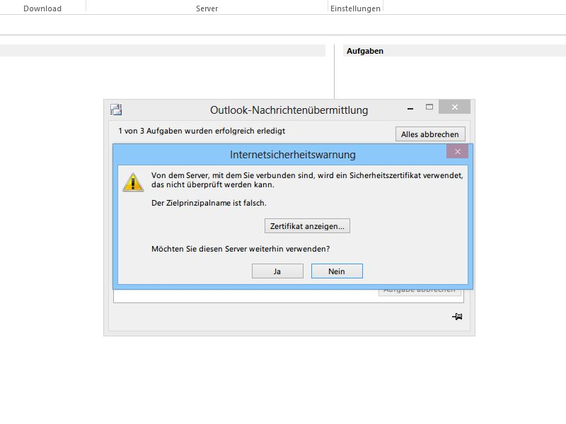 "Outlook-Fehler-Meldung ""Zielprinzipalname ist falsch"" beheben ..."