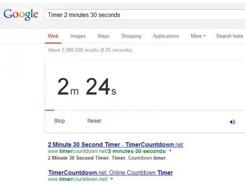 google-suchanfrage-timer